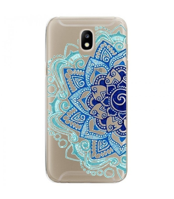 coque galaxy j3 2017 mandala bleu aztec ethnique fleur doodling transparente coque4phone. Black Bedroom Furniture Sets. Home Design Ideas