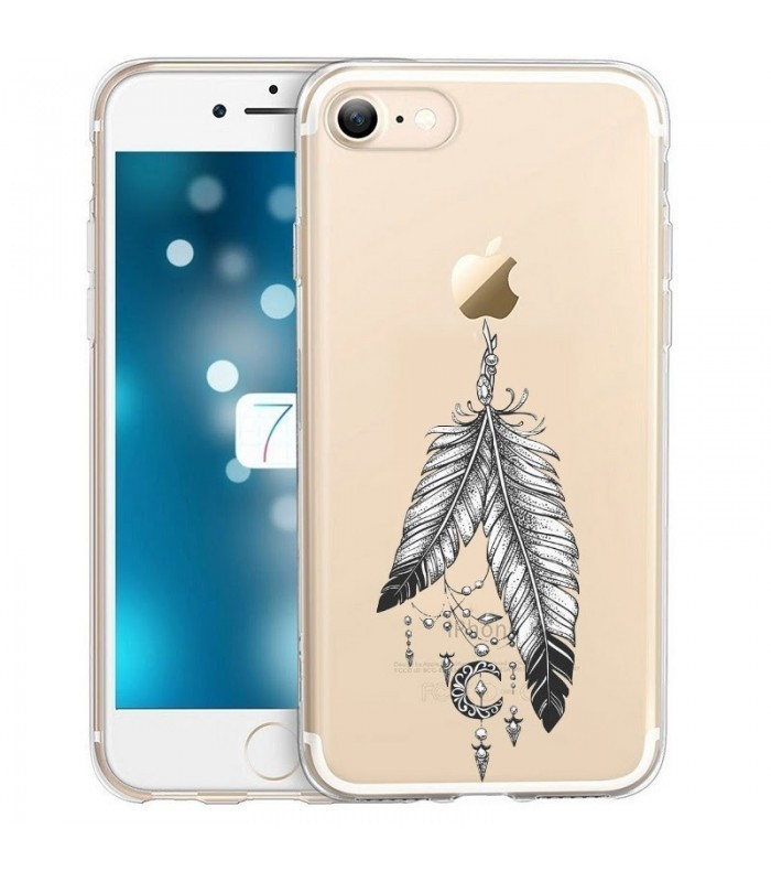 coque iphone 8 plume