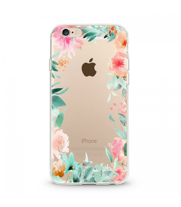 coque iphone 7 plus fleur rose