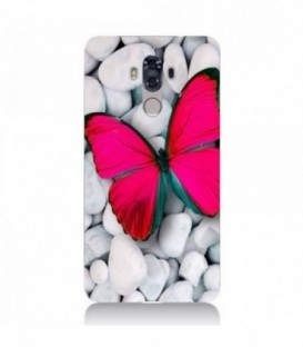 Coque Mate 9 Papillon rose fushia butterfly