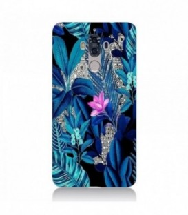 Coque Mate 9 tropical UV fleur rose exotique