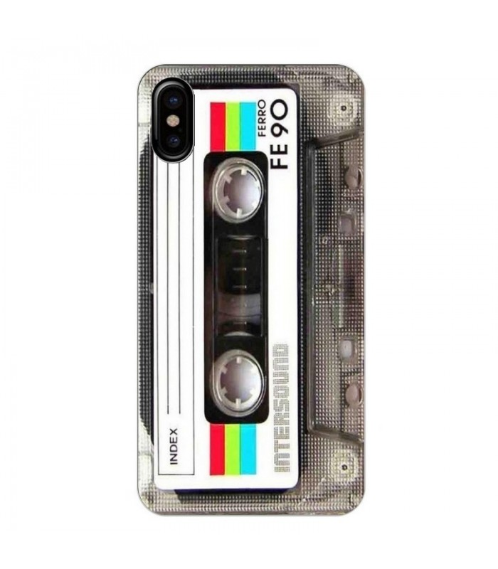 coque iphone x cassette tape fe90 k7 vintage retro