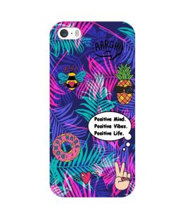 Coque Iphone 7 PLUS iphone 8 PLUS palmier fluo positive vibes jungle tropical ananas donut patch