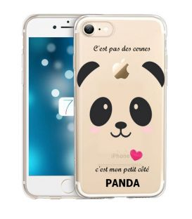 Coque Iphone 7 PLUS iphone 8 PLUS panda coeur rose cute kawaii transparente