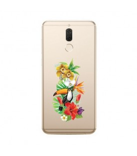 Coque MATE 10 LITE perroquet fleur tropical exotique transparent