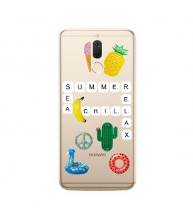 Coque MATE 10 LITE scrabble summer chill cactus ananas tropical relax