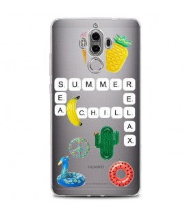 Coque MATE 10 PRO scrabble summer chill cactus ananas tropical relax