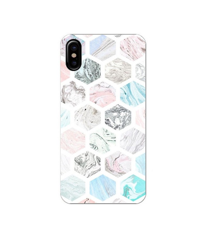 coque iphone xs marbre rose gold