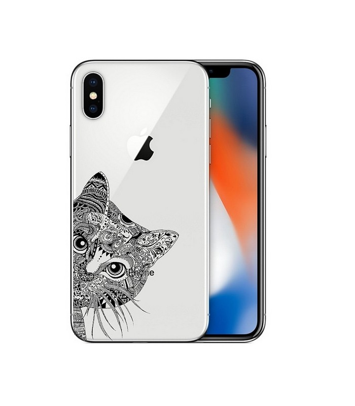 coque iphone xr noir et or