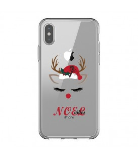 Coque Iphone X et XS noel vibes renne christmas