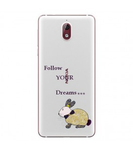 Coque Nokia 3.1 2018 lapin dream fleur liberty