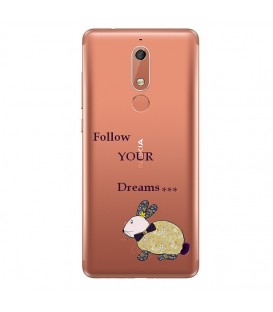 Coque Nokia 5.1 2018 lapin dream fleur liberty