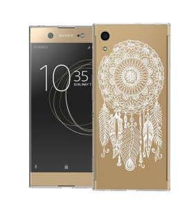 Coque Xperai XA1 ULTRA dreamcatcher blanc plume attrape reves