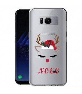 Coque Galaxy S8 noel vibes renne christmas