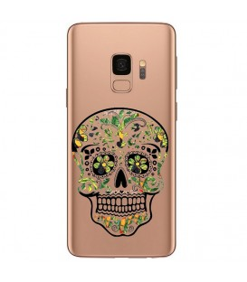 Coque Galaxy S9 mort mexicaine jungle calavera vert tropical