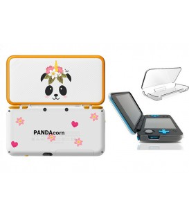 Coque NEW 2DS XL panda corn fleur Coeur cute kawaii transparente