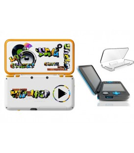 Coque NEW 2DS XL Tag graffiti music urban transparente