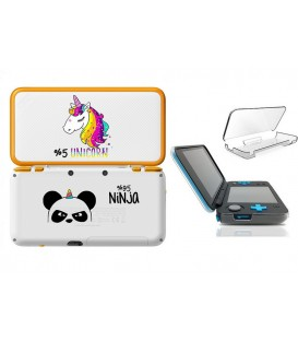Coque NEW 2DS XL panda ninja licorne kawaii transparente