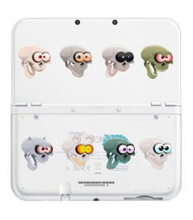 Coque NEW 3DS XL Tete de mort skull Bd transparente