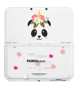 Coque NEW 3DS XL panda corn fleur Coeur cute kawaii transparente