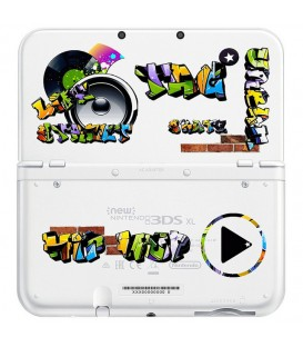 Coque NEW 3DS XL Tag graffiti music urban transparente