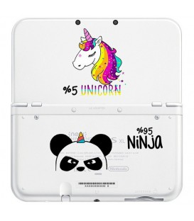 Coque NEW 3DS XL panda ninja licorne kawaii transparente