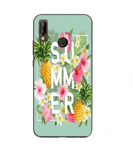 Coque Honor 8X Summer ananas tropical jungle fleur rose
