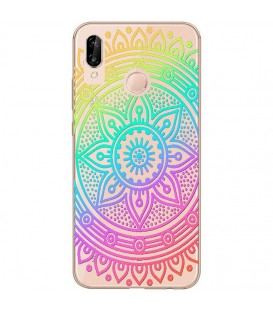Coque Honor 8X mandala arc en ciel multicolor