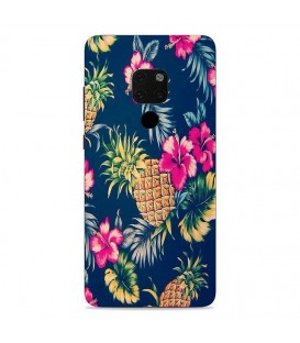 Coque Mate 20 Ananas Fleur rose Tropical Exotique hawaii aloha