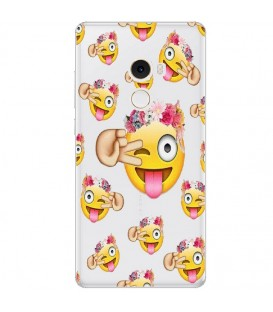 Coque MI MIX 2 Smiley fleur emojii emoticone