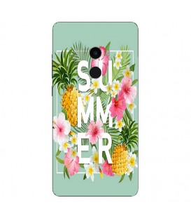 Coque MI MIX 2 Summer ananas tropical jungle fleur rose