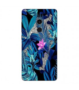Coque MI MIX 2 tropical UV fleur rose exotique
