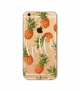 Coque Iphone 6 6S Ananas tropical fruit hello summer