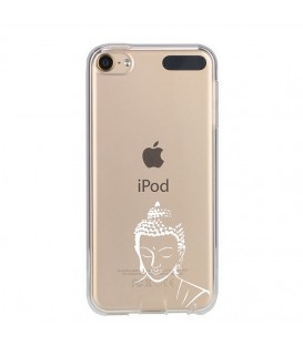 Coque Ipod Touch 5 Touch 6 bouddha blanc transparente