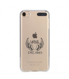 Coque Ipod Touch 5 Touch 6 love dreams ailes blanc transparente
