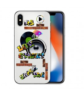 Coque Iphone X XS tag graffiti urban transparente