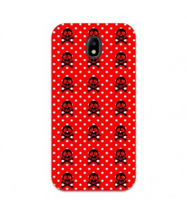 Coque Galaxy J3 2017 mort skull pois rouge multi