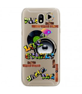Coque Galaxy J3 2017 tag graffiti urban transparente