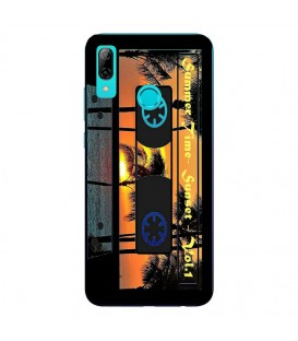 Coque Y7 2019 cassette summer time K7 noir