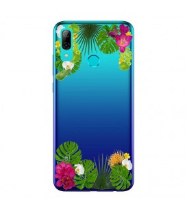 Coque Y7 2019 fleur exotique tropical transparente