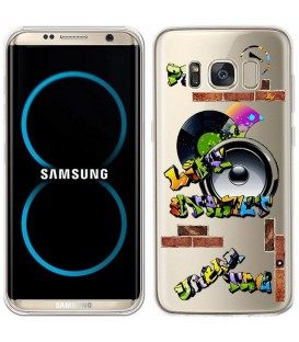 Coque Galaxy S8 tag graffiti urban transparente