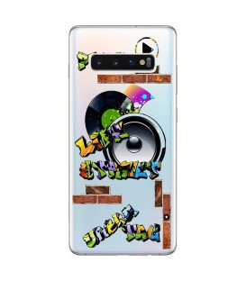Coque Galaxy S10 tag graffiti urban transparente
