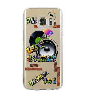 Coque Galaxy S7 tag graffiti urban transparente