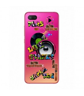 Coque MI 8 LITE tag graffiti urban transparente