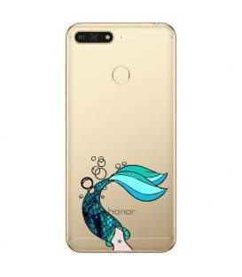 Coque P Smart 2018 sirene mermaid bleu transparente