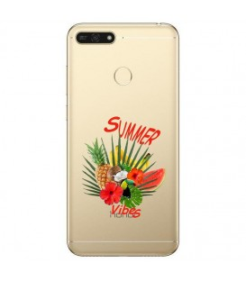 Coque P Smart 2018 summer vibes exotique fleur transparente