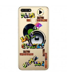 Coque P Smart 2018 tag graffiti urban transparente