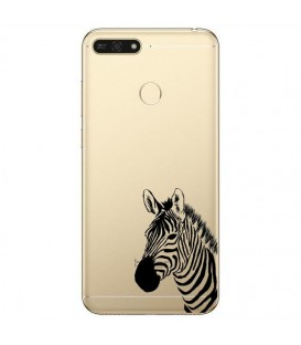 Coque P Smart 2018 zebre wild jungle raye transparente