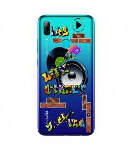 Coque P Smart 2019 tag graffiti urban transparente
