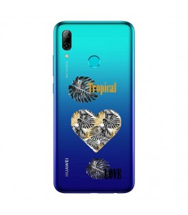 Coque P Smart 2019 tropical love coeur transparente